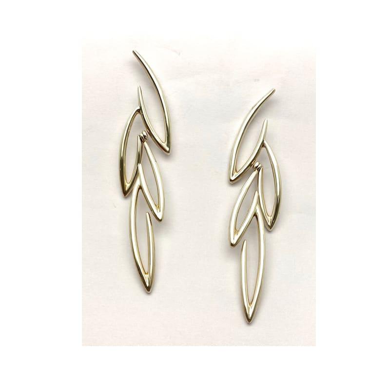 Pendientes de plata con forma de hojas de olivo