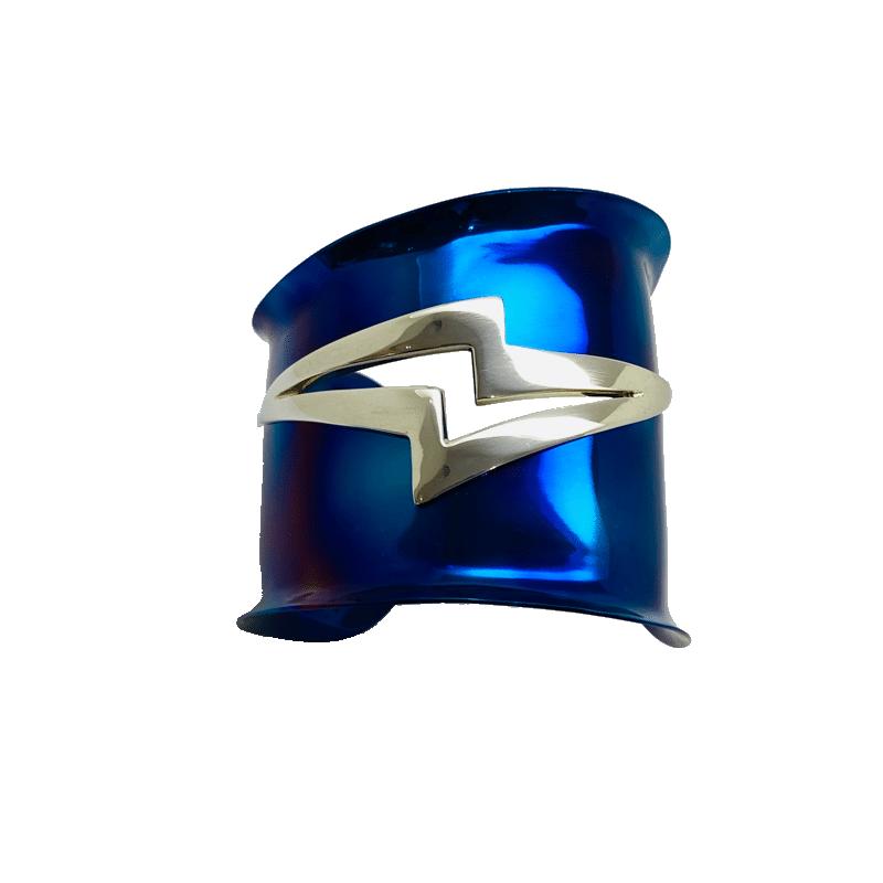 Brazalete de titanio y plata de ley