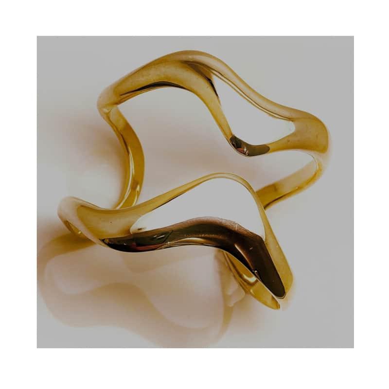 Brazalete de Oro ondas asimétricas