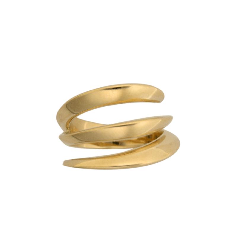 Anel de Ouro em Espiral