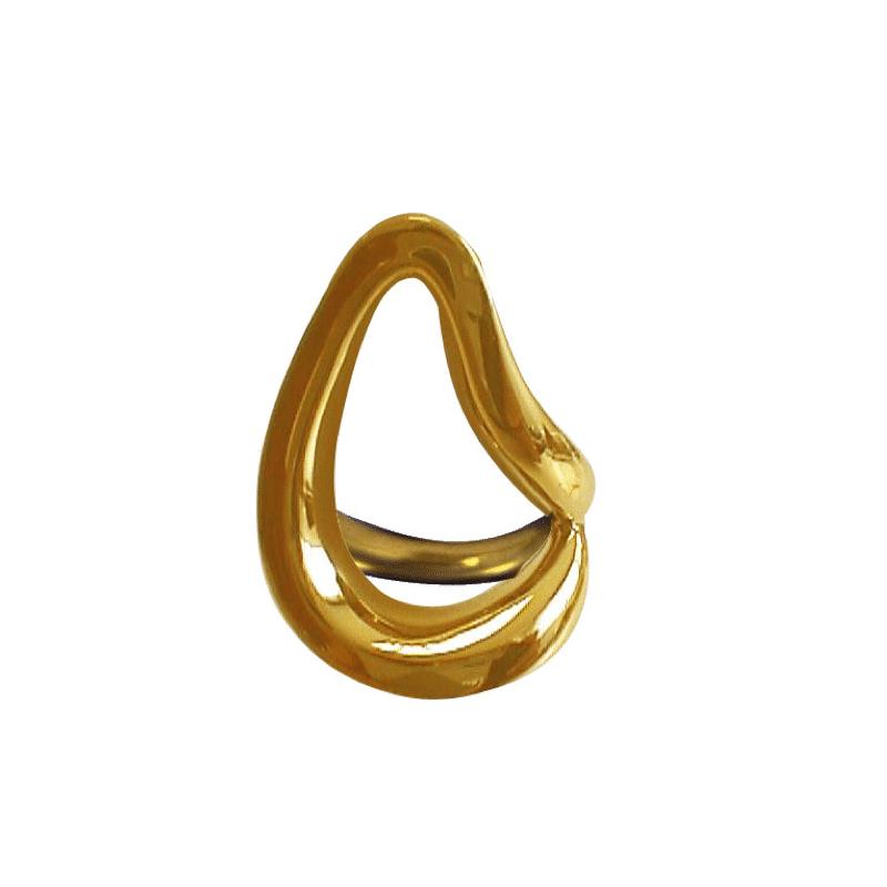 Organic shaped gold ring