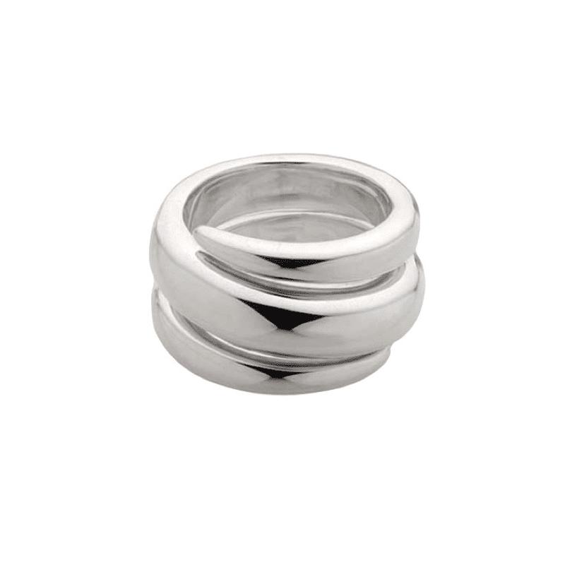 Anillo de plata de espiral