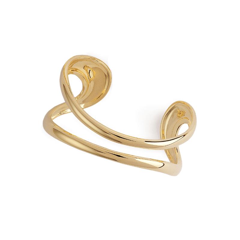 Bracciale in oro a due fili
