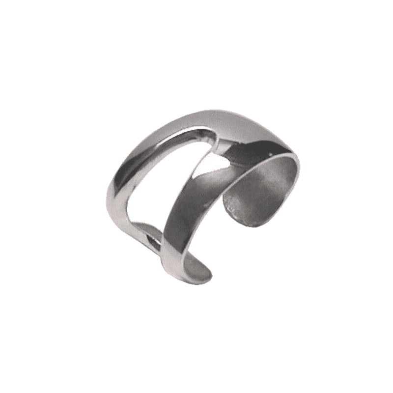 Brazalete de plata con oquedad en un lateral