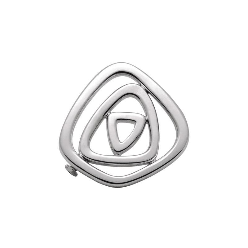 Broche de plata asimétrico