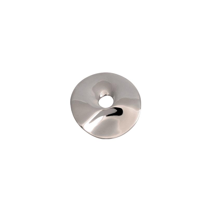 Colgante de plata redondo irregular