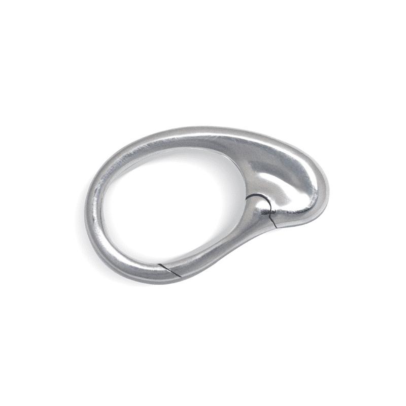 Silver bean keychain