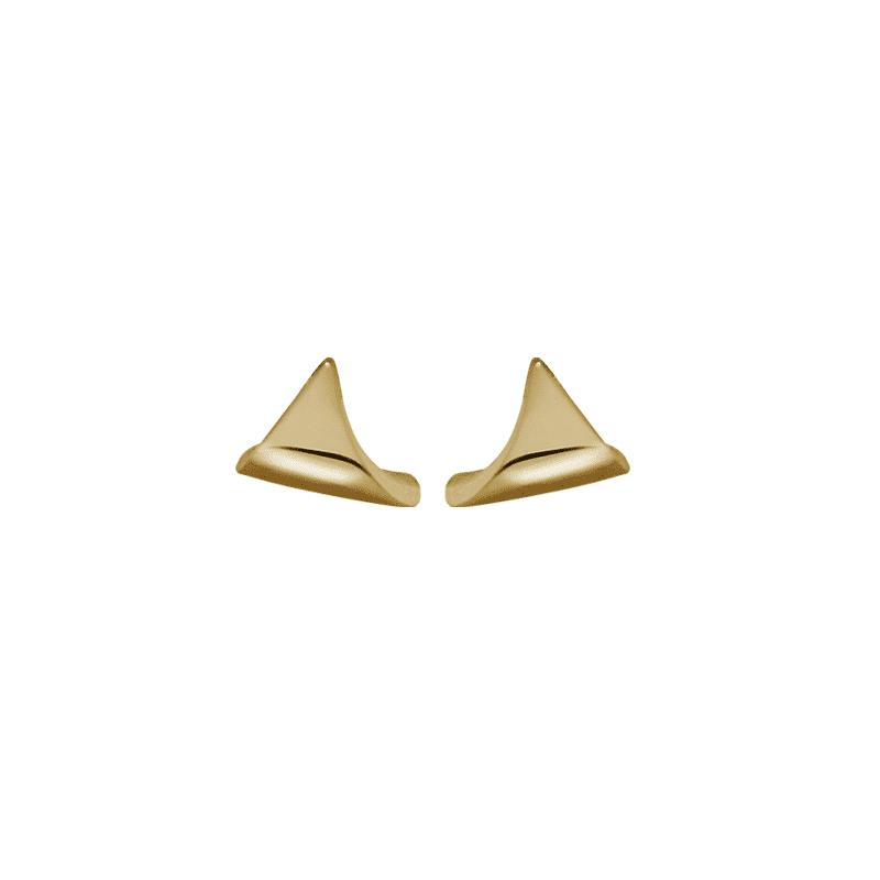 Orecchino d'oro a forma di vela di una nave