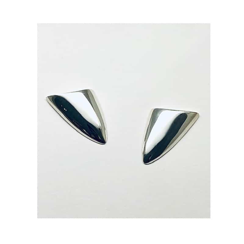 Pendientes de plata triangulares