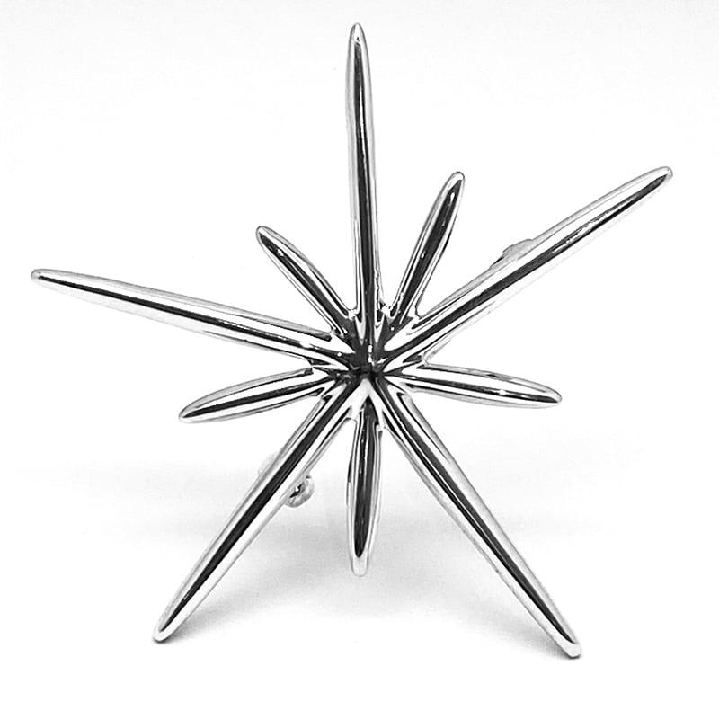 Broche de plata de estrella