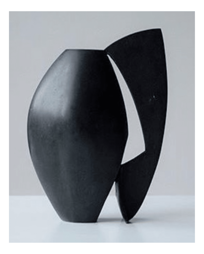 Black patinated bronze vase