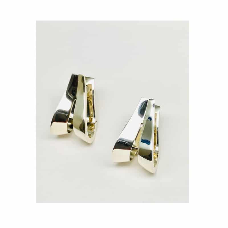 Pendientes de plata criolla ovalada