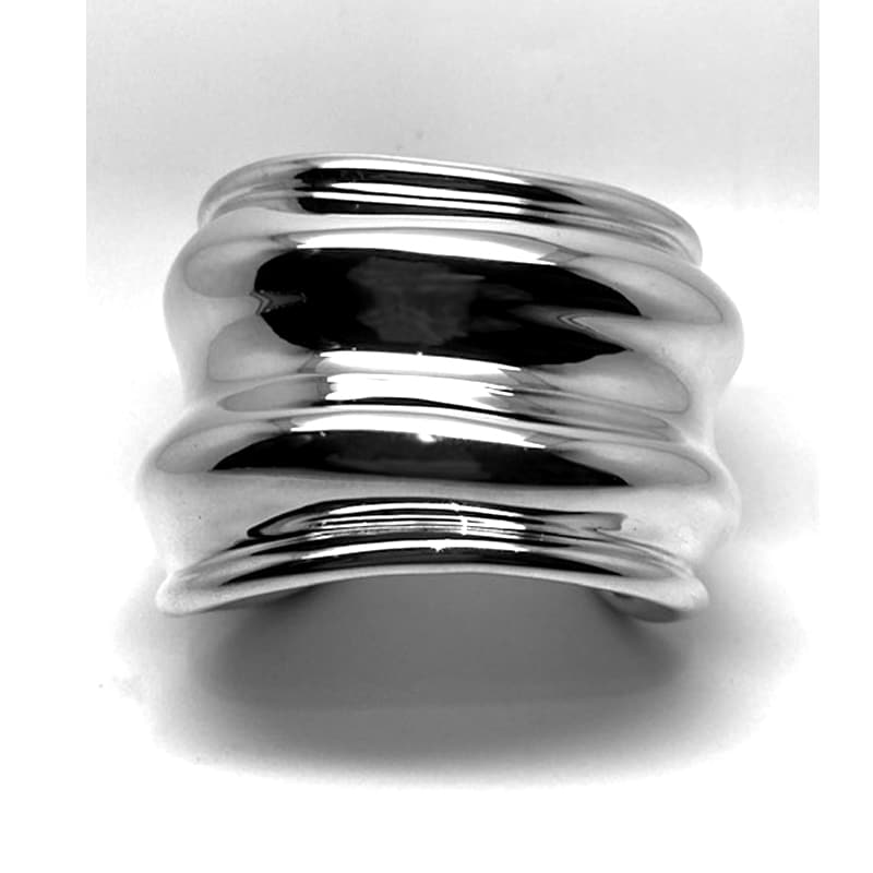 Pulseira de prata ondulada
