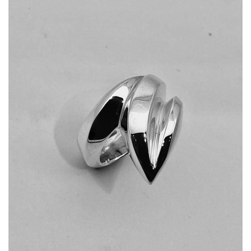 叶形银戒指