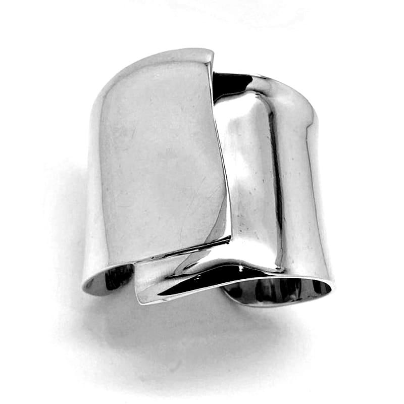 Brazalete plata en dos planos superpuestos