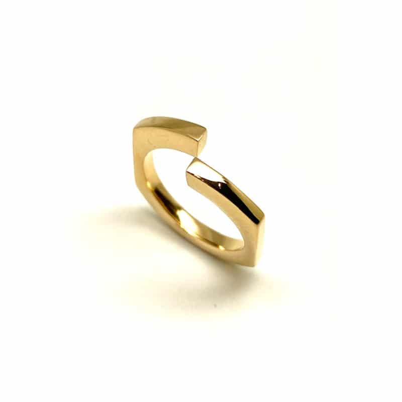"Small ""Gastón"" Gold Ring"