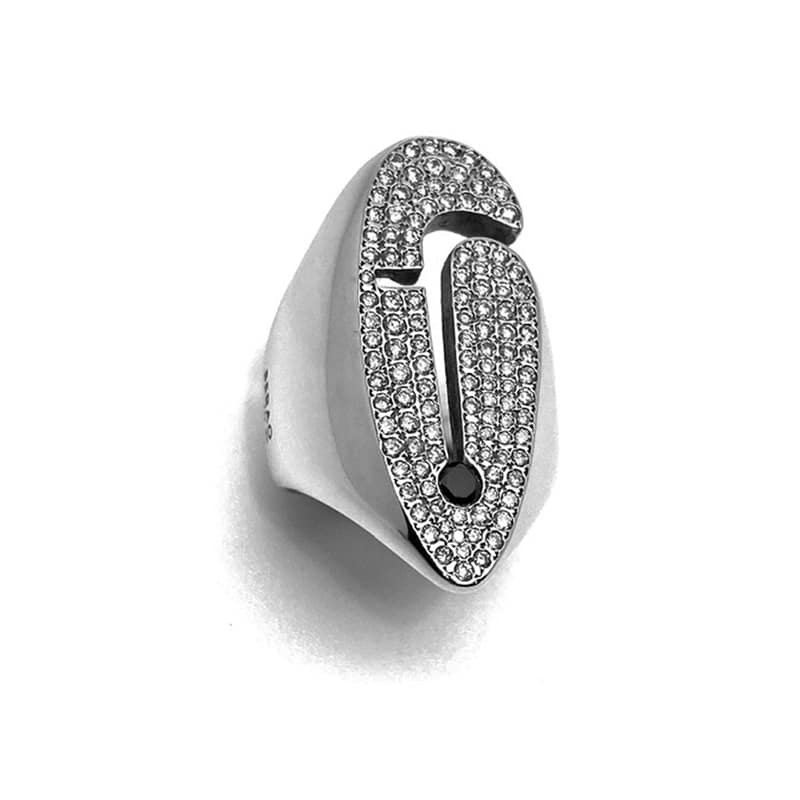 Mademoiselle Pogany white gold and diamond ring