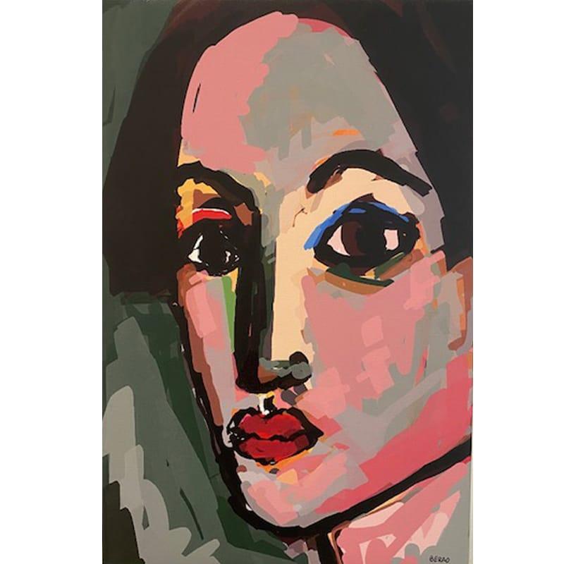 Passion pour le visage, peinture numérique