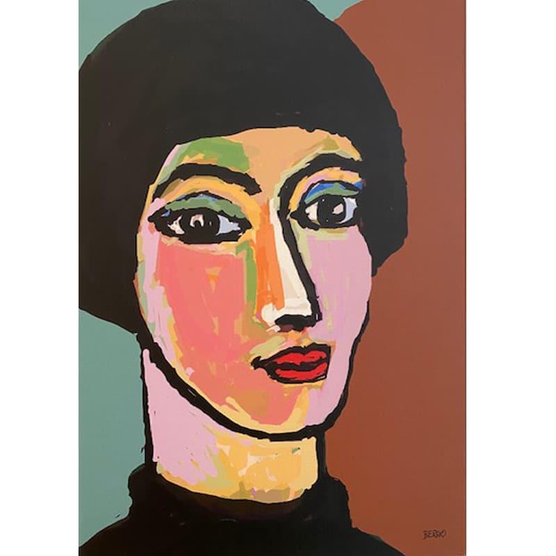 Passione per il viso, pittura digitale